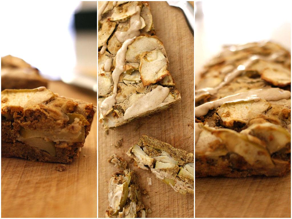 apple tahini loaf