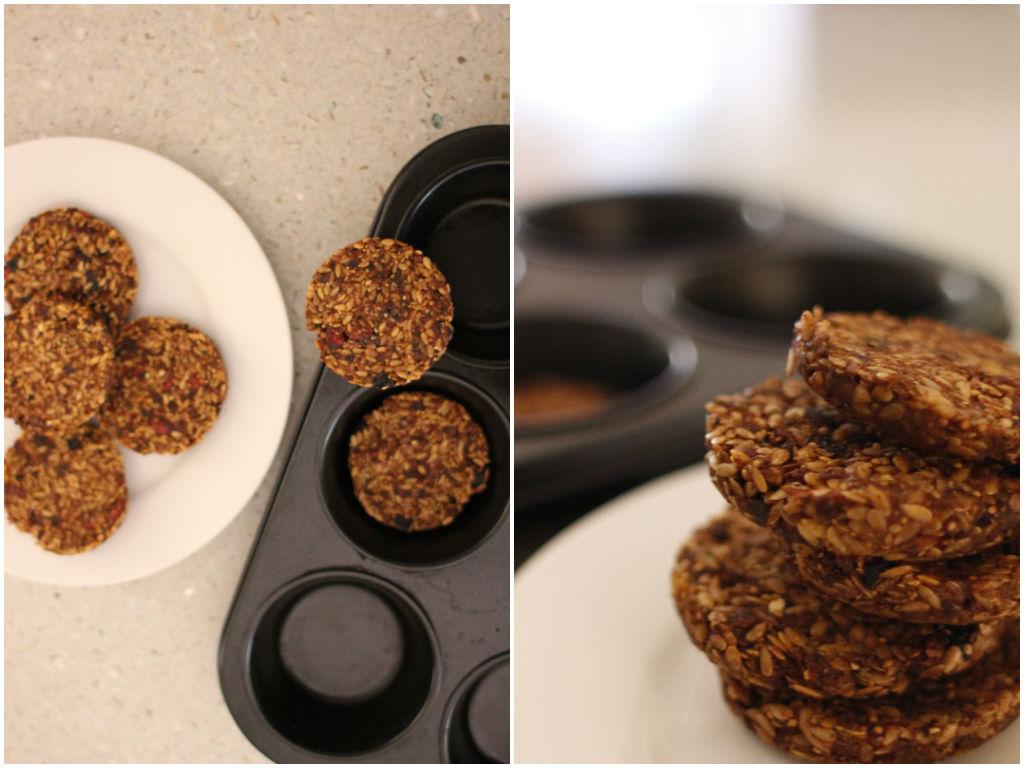 flax carob cookies