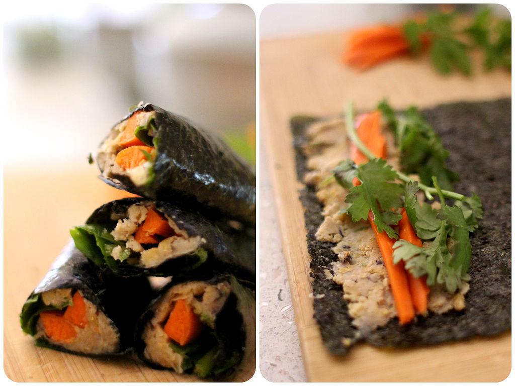 hummus sushi