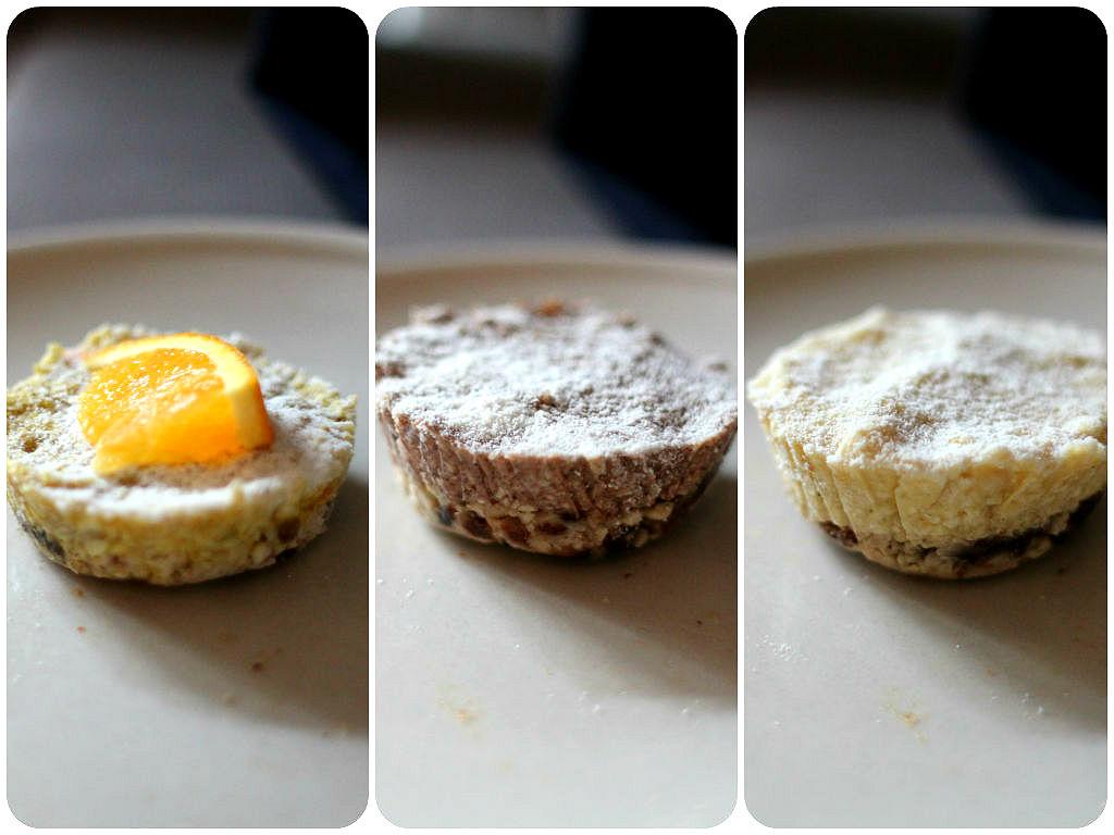 raw mini cheesecakes