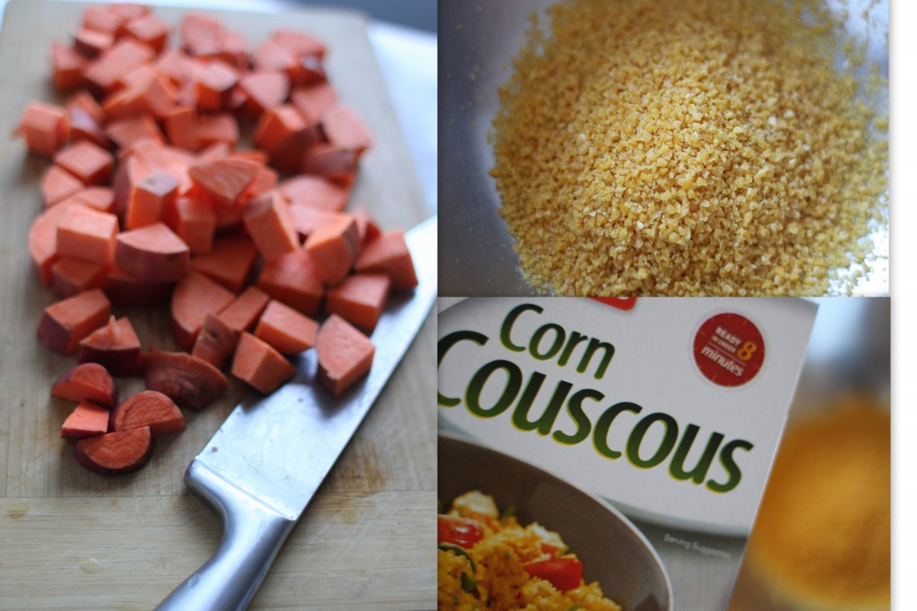Corn couscous salad
