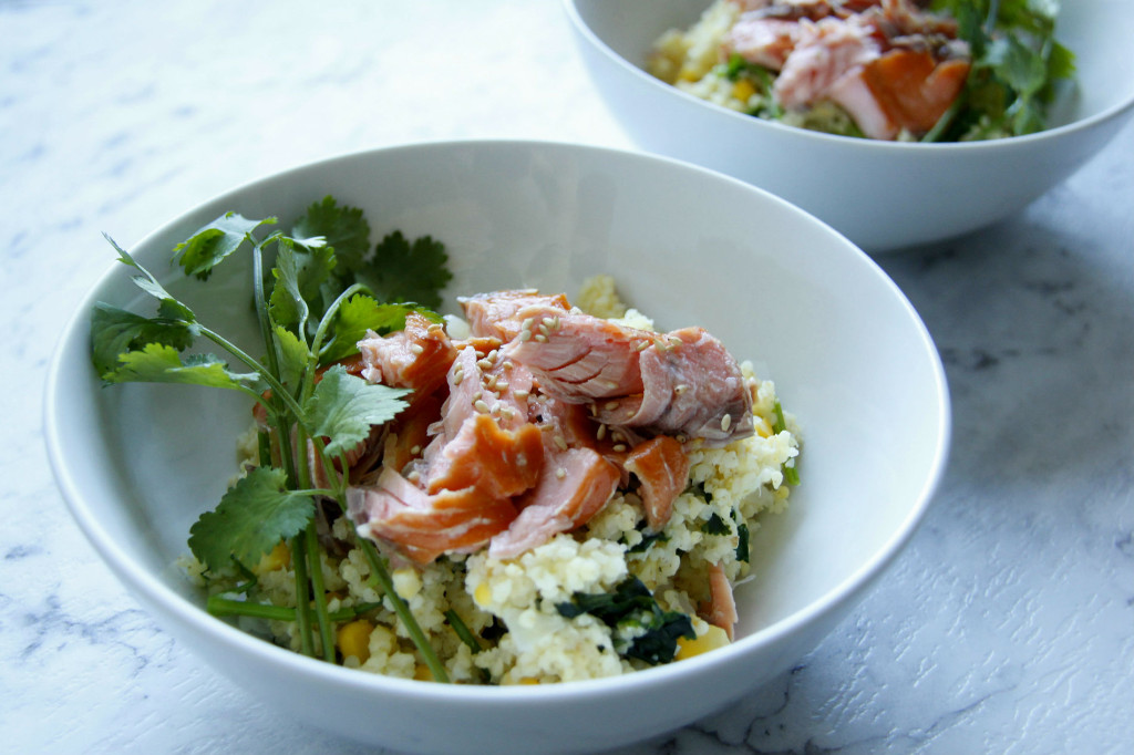 salmon and millet