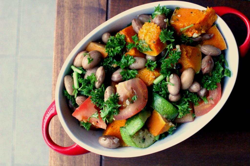 Za'atar bean salad