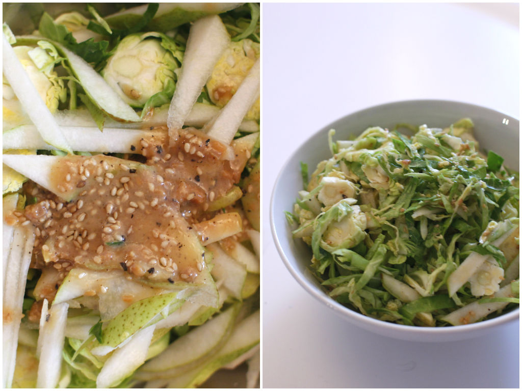 shredded brussel sprouts1