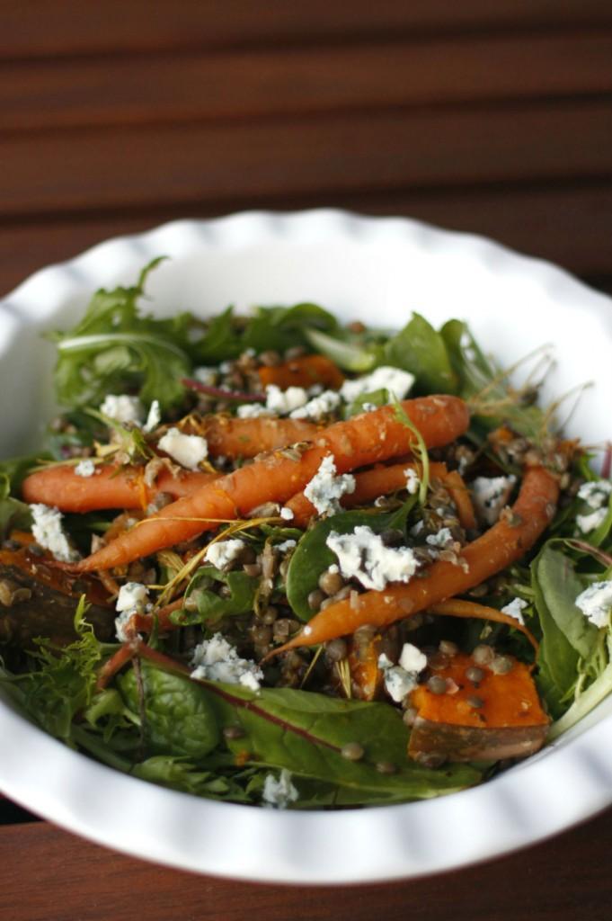 warm lentil salad1